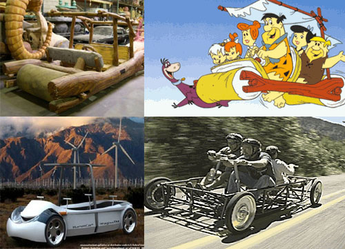 drivable human powered car 21st Century Flintstones Car Finally for Sale