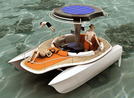 Sailboat+Design Awesome: Solar Powered Bicycle Boat Design - Ecoble ...