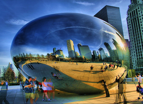 Chicago at dusk. Photo by Papalars