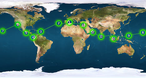 Earth Race Route