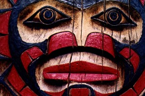 The Sun Face is a common image on native american totems. Image courtesy of Flickr