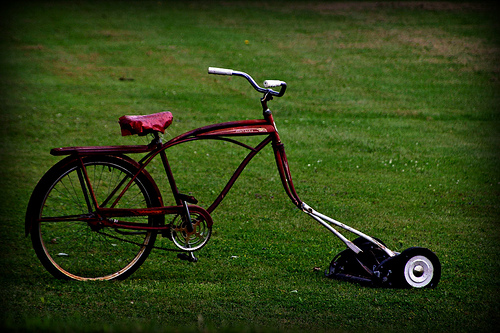 Ride on lawnmower?  Photo by olsongirl via Flickr
