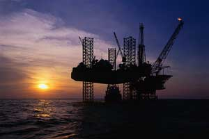 Oil RigOffshore Oil Platform Under Construction --- Image by © Royalty-Free/Corbis