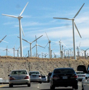 California wind farm. Photo by kevindooley