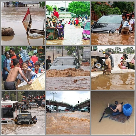 2007 Jakarta flood named worst in 300 years.  Photo by Indhas