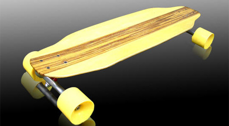 Bamboo skateboard by SuperGreen Boards