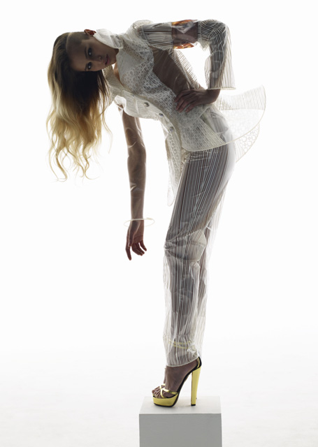 Dissovable fashion designed by Helen Storey and scientist Tony Ryan. Photo by Nick Knight for Wonderland