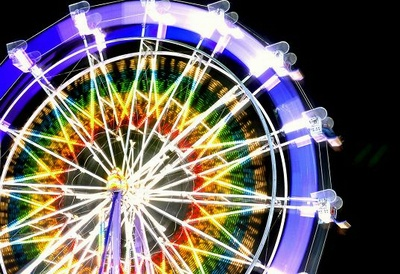 Solar powered LED ferris wheel in Santa Monica