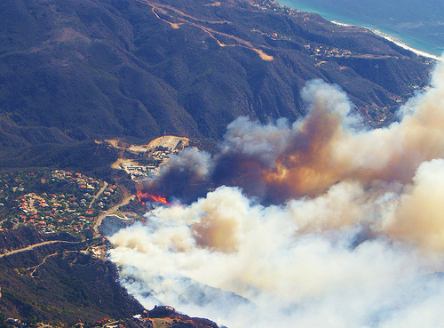 2007 California wildfires Malibu. Photo by kia40671