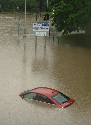 June 2007 floods in Sheffield UK. Photo by Random_Dave