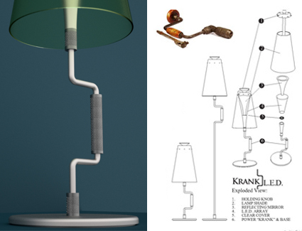 Krank LED Fixture by Efrain E. Velez : Works