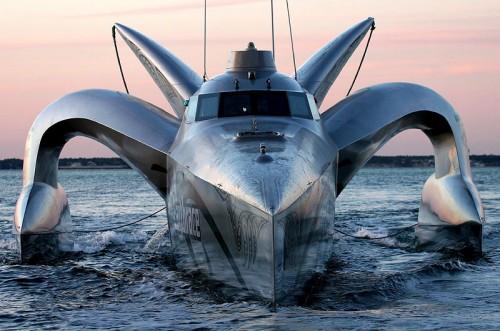Fat powered bat boat
