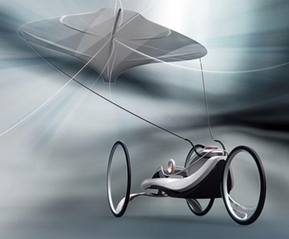 Kite car designed by Tsun-Ho Wang, Min-Gyu Jung, Sung-Je Do