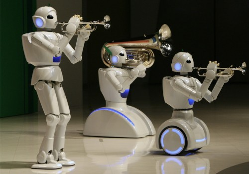 Toyota Robotic Band (REUTERS/Toru Hanai)